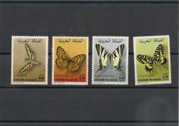 MAROC  Papillons Année 1981/82 N° Y/T : 894/95-921/22** - Maroc (1956-...)