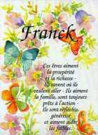 Prenom FRANCK, Aquarelle De Lysie Lechner - Firstnames