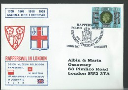 1978. GENERAL SIKORSKI MUSEUM  EXHIBITION & RAPPERSWILL  MUSEUM  EXHIBITION. - 1952-.... (Elizabeth II)