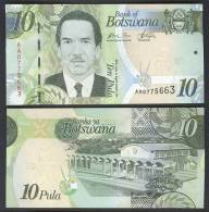BOTSWANA : Banconota 10 Pula - 2009  -UNC - Botswana
