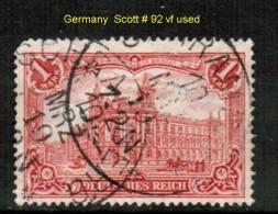 GERMANY   Scott  # 92  F-VF USED - Oblitérés