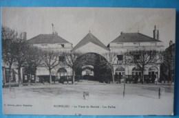 Richelieu : La Place Du Marché  Les Halles Dans Les Années 1900 - Piazze Di Mercato