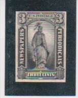 US United States Scott # PR-10P4 On Card Newspapers Periodicals MNH  Catalogue $12.00 - Proofs, Essays & Specimens