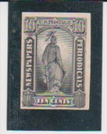 US United States Scott # PR-15P4 On Card Newspapers Periodicals MH  Catalogue $12.00 - Proofs, Essays & Specimens