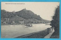 C.P.A. Königswinter - Drachenfels - Bateau à Vapeur - Koenigswinter
