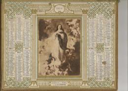 Almanach Des Postes Et Des Telegraphe (departement De La Lozere ) 1914 Sujet Religieux - Calendari