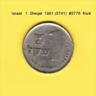 ISRAEL    1  SHEQEL  1981  (YR. 5741) (KM # 111) - Israel