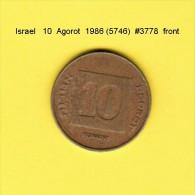 ISRAEL    10  AGOROT  1986  (YR. 5746) (KM # 158) - Israel