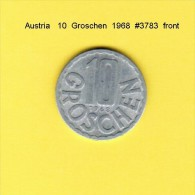 AUSTRIA   10  GROSCHEN  1968 (KM # 2878) - Austria