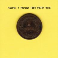 AUSTRIA   1  KREUZER  1885 (KM # 2187) - Austria