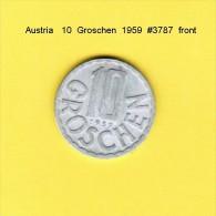 AUSTRIA   10  GROSCHEN  1959  (KM # 2878) - Austria