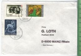 1990, Österreich, MiF, Auf Brief, Brief Gelaufen, 18.3.90 GestempeltGröße: 16 X 11,5 CmZustand: I-II (H)Wir Haben Ständi - 1945-60 Briefe U. Dokumente