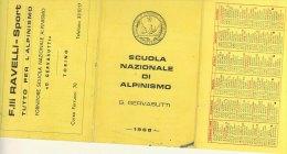 PO3359C# CALENDARIETTO 1968 - SCUOLA NAZ.ALPINISMO G.GERVASUTTI - PROGRAMMA - Calendari