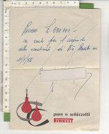 PO3368C# RICEVUTA Su PUBBLICITA' PERE E SCHIZZETTI PIRELLI 1956 - Advertising