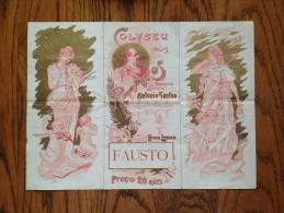 # FAUSTO Opéra Gounod - Epoque Lyrique 1903 - Coliseu Dos Recreios - Lisbonne - Portugal - Manifesti & Poster
