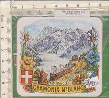 PO3422C# ADESIVO DOUBLE FACE - STICKERS - CHAMONIX Mt.BLANC - Adesivi