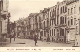 ANVERS - Bombardement 8-9 Oct. 1914 - Kasteelpleinstraat - Groenplaats - Van Breestraat - 3 Kaarten - Antwerpen