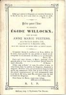 Doodsprentje EGIDE WILLOCKX - Veuf De Dame Anne Marie Peeters - Niel 1795 - Décédé Niel 1870 - Devotieprenten