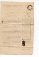 1895 - Avis Enregistrement Port Payé (cachet Paris Imprimés PP 6 Noir ) De Ecos Pour Giverny,( Bande Absente) - Storia Postale
