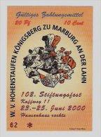 10 Euro-Cent Temporaire, Precurseur, Euro-Vorläufer MARBURG, 2000, RRRRR, UNC - EURO