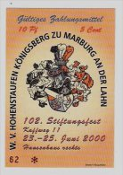 15 Euro-Cent Temporaire, Precurseur, Euro-Vorläufer MARBURG, 2000, RRRRR, UNC - EURO