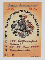 20 Euro-Cent Temporaire, Precurseur, Euro-Vorläufer MARBURG, 2000, RRRRR, UNC - EURO