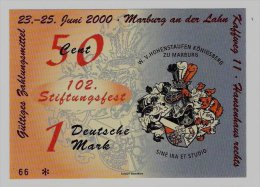 50 Euro-Cent/1 DM Temporaire, Precurseur, Euro-Vorläufer MARBURG, 2000, RRRRR, UNC - EURO
