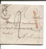 Précuseur LAC C.Frasnes Grffe Après Le Départ V.Renaix C.d'arrivée Taxé 2 PR413 - 1830-1849 (Belgique Indépendante)