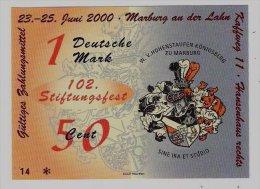 1 DM/50 Euro-Cent Temporaire, Precurseur, Euro-Vorläufer MARBURG, 2000, RRRRR, UNC - EURO