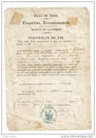 Certificat De Vie Paris Mairie Panthéon 1863 - Decrees & Laws