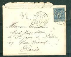 Timbre A Date Type 84 , ( Vendome - Loir Et Cher) Oblitérant Yvert 90 Sur Lsc En 1889  - Ac8210 - Poststempel (Briefe)