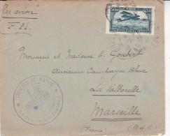 """MAROC - LETTRE AFFRANCHIE PA N° 3 ET CACHET VIOLET """"TROUPES DU MAROC"""" 1926 - Maroc (1891-1956)"""