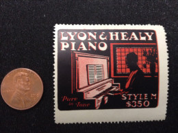 US, Lyon & Healy Piano, Style M $350 Poster Stamp - United States
