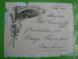 WW1* SP 72* 2 Lettres à Entête Illustrée * Les TOURISTES De BRIVE La GAILLARDE, Soc.Tambours & Clairons - WW I
