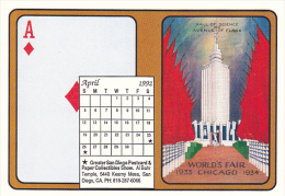 1992 Playing Card Calendar Series April - Playing Cards