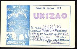 AK     QSL  CARD   RADIO AMATEUR    POLAR RADIO STATION USSR  MURMANSK - Amateurfunk