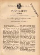 Original Patentschrift - C.F. Rolle In Zschopenthal B. Grünhainichen ,1885 , Getreide - Schälmaschine , Waldkirchen !!! - Maschinen