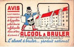 Buvard-ALCOOL A BRULER - Gas, Garage, Oil