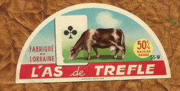 MEUSE ETIQUETTE DEMI 1/2 CAMEMBERT LACROIX SUR MEUSE AS DE TREFLE HUTIN - Fromage
