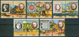 1979 Niue Rowland Hill Stamps On Stamps Trasporti Transport Personaggi Characters Caracteres Set MNH** -Ro - Rowland Hill
