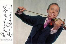 HELMUT ZACHARIAS, Autogrammkarte Mit Autogramm (gedruckt) - Sänger Und Musikanten
