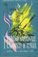 NAPOLI- 1* RADUNO NAZIONALE CARRISTI D´ITALIA-  7-8-9  NOVEMBRE  1959 - Militaria
