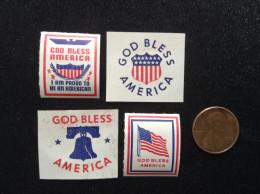 US, Vintage Patriotic Cinderella Collection (4) - God Bless America - United States