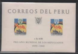 PEROU BLOC 3** SUR L ANNEE MONDIALE DES REFUGIES - Pérou