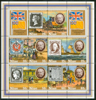 1979 Niue Rowland Hill Stamps On Stamps Trasporti Transport Personaggi Characters Caracteres Block MNH** -Ro - Rowland Hill