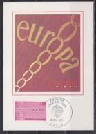 = Europa CEPT Chaîne De Solidarité Paris 8 Mai 1971 Carte Postale 1er Jour Timbre 1677 - 1971