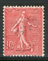 N° 129 Type III Rose Foncé_1907 - 1903-60 Semeuse Lignée