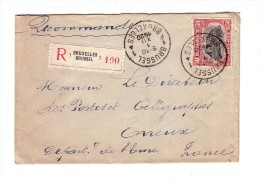 Belgique Recommandé 1920 Evreux Eure - Belgique