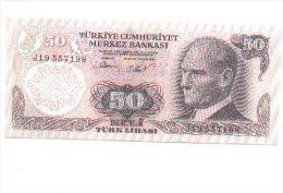 6-189. Billete Turkia P-188. 50 Libras - Turquia