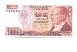 6-192. Billete Turkia P-202. 20.000 Libras 1995 - Turquia